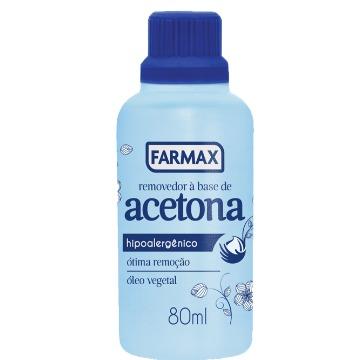 Removedor à base de acetona FARMAX 80ml