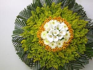 Coroa de Flores - Crisântemo 60cm