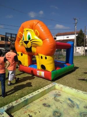 Pula pula inflável leãozinho