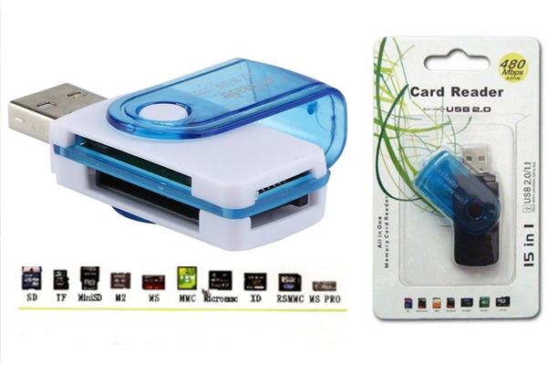 ADAPTADOR CARTÕES X USB 2.0 480MBPS 15X1 COD-39322-50