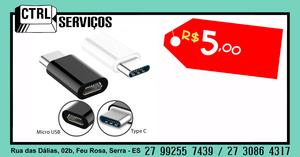 Adaptador Micro USB X Tipo C 1Fx1M