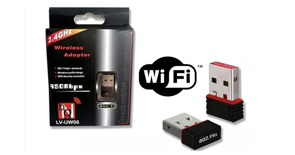 ADAPTADOR USB X WIRELES WIFI NANO 950MBPS 2.4GHZ LV-UW06 COD:39382