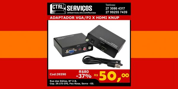 ADAPTADOR VGA-P2 X HDMI KNUP COD:39390
