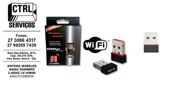 ANTENA WIFI 950MBPS 2.4GHZ LV-UW06