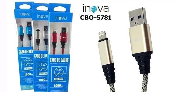 CABO LIGHTNING PARA IPHONE 1M 2.4A INOVA CB0-5781 COD:676660