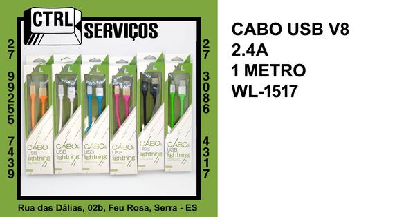 CABO USB V8 2.4A 1,00M WL-1517