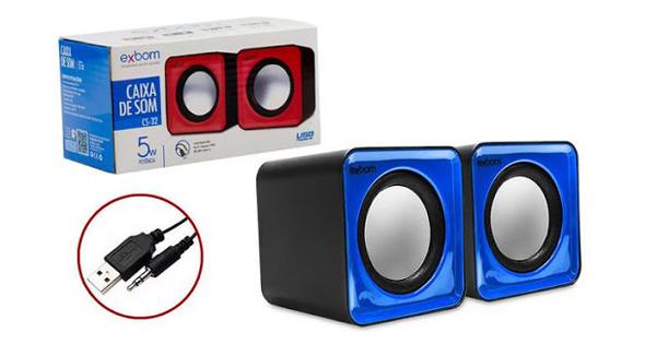 CAIXA DE SOM USB P2 5W EXBOM CS-32 COD:680260