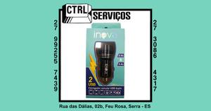 CARREGADOR VEICULAR COM 2USBs INOVA CAR-G5156