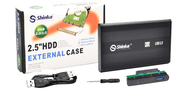 CASE GAVETA HD SATA 2,5 USB 2.0 E 3.0 SHINKA COD:685070