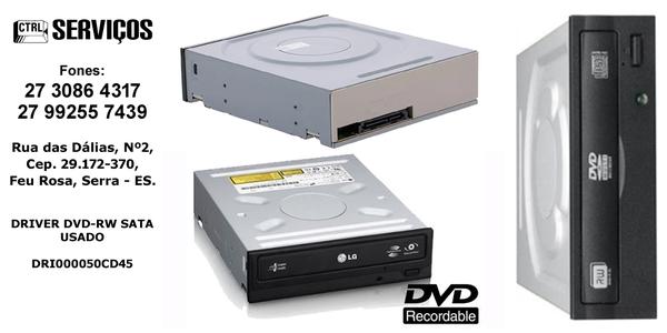 DRIVER DVD-RW SATA USADO