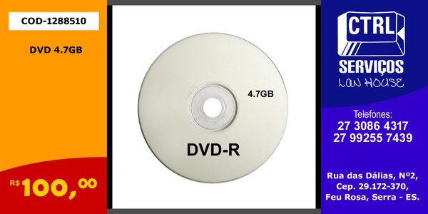 DVD 4.7GB VIRGEM COD:1288510