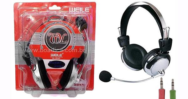 FONE DE OUVIDO COM MICROFONE WEILE HL-301MV COD:1878560