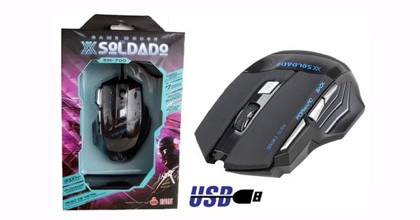 MOUSE GAMER USB 3000 DPI 6B SOLDADO INFOKIT GM-700 COD:4248170