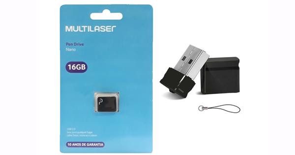 PENDRIVE 16GB MULTILASER NANO COD:5128590
