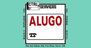 PLACA DE SINALIZAÇÃO PVC 20X30 ALUGO 210218