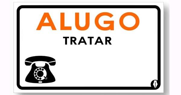 PLACA DE SINALIZAÇÃO PVC 20X30 ALUGO
