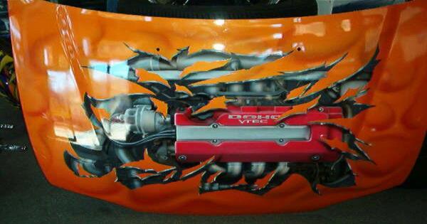 Pintura Personalizada em Teto de Carro