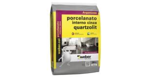 Argamassa para Porcelanato Interno Cinza 20 Kg Quartzolit