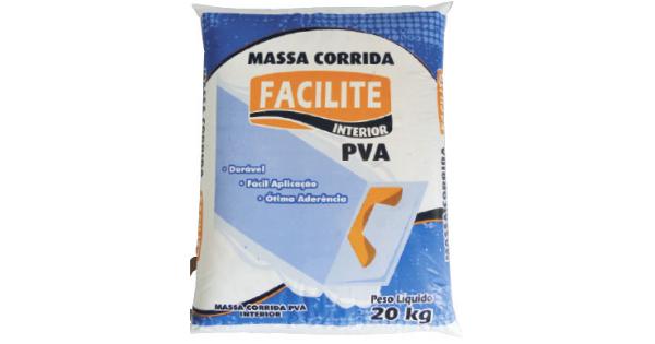 Massa Corrida PVA Facilite 20 KG