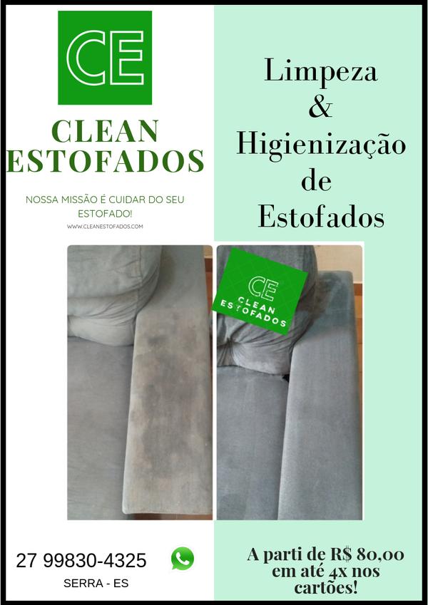 Limpeza e Higienização de Sofá em até 4x nos cartões